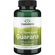 SWANSON Guarana 500mg 100kaps.
