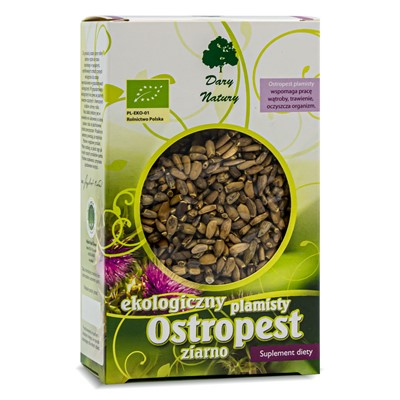 Ostropest plamisty ziarno supl. diety BIO 100g DARY NATURY