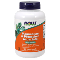 NOW FOODS Magnesium & Potassium Aspartate with Taurine 120vcaps.